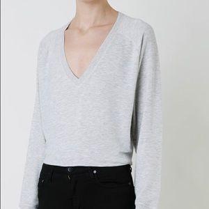 🌼Rag & Bone/Jean V-neck Sweatshirt, Heather Grey